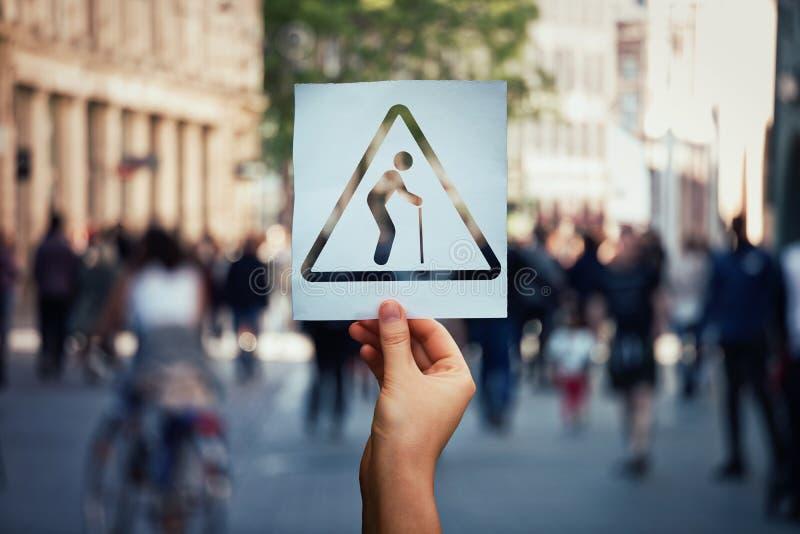Problème de vieillissement global photographie stock