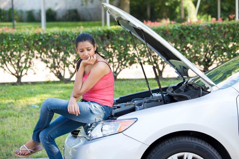 Problème de voiture image libre de droits
