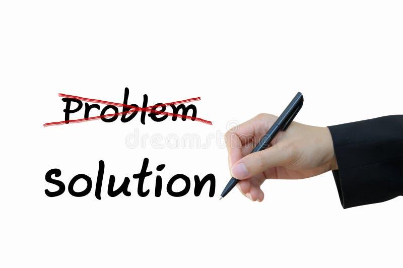 Problème et solution pour le concept d'affaires image libre de droits