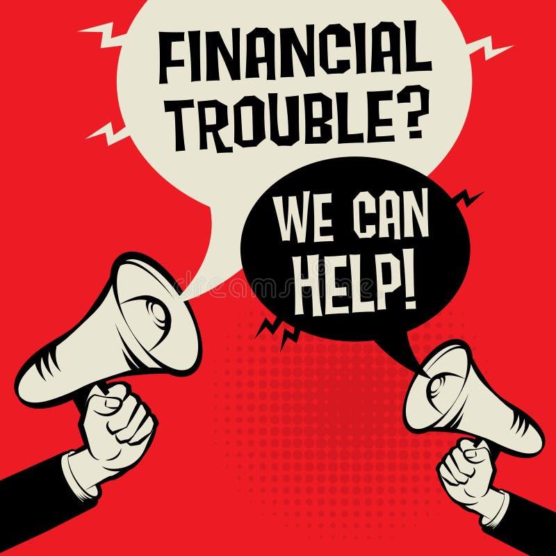 Problème financier ? Nous pouvons aider ! illustration libre de droits