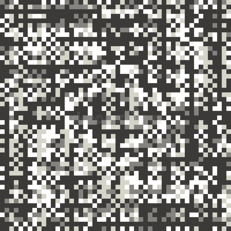Problème, modèle sans couture de vecteur plat de style de pixel illustration de vecteur