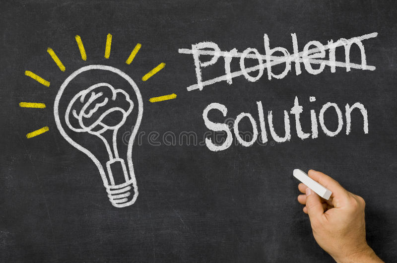 Problème - solution images libres de droits