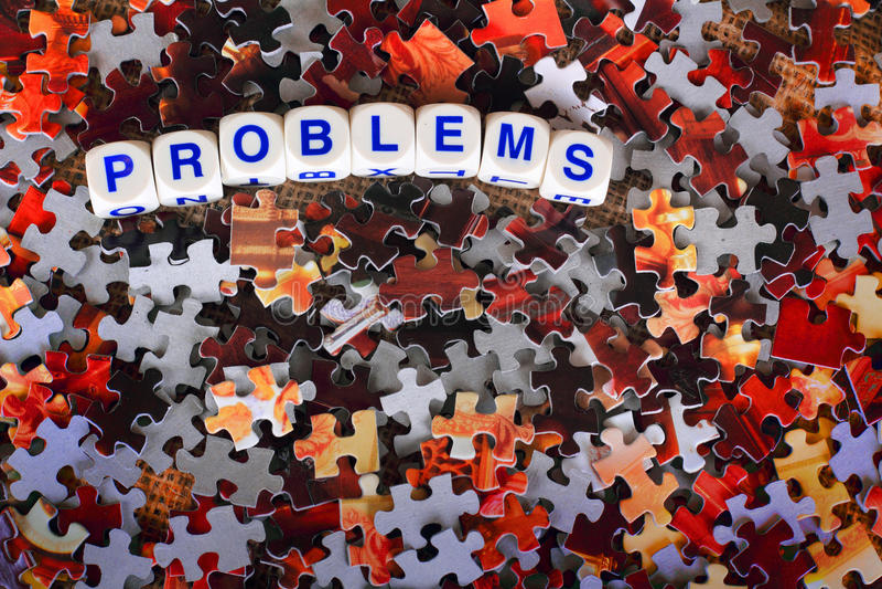 Problèmes photos stock