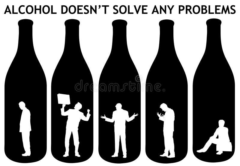 Problèmes d'alcool illustration libre de droits