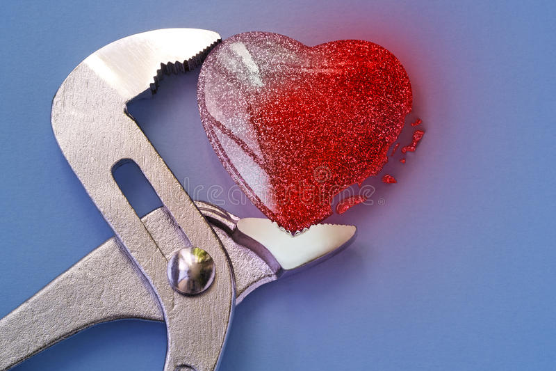 Problèmes de course et de santé de coeur photos libres de droits