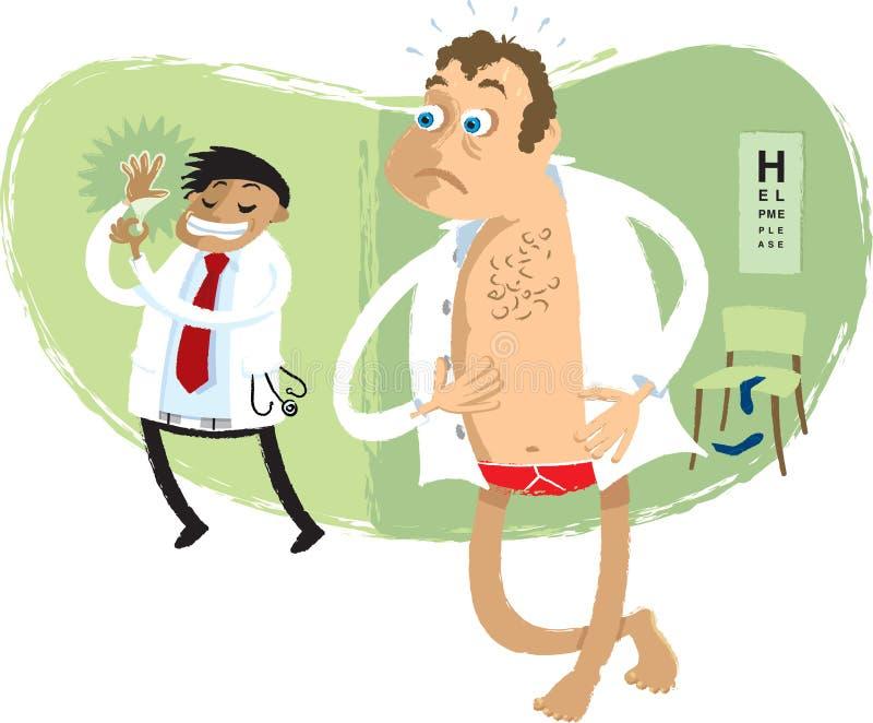 Problèmes de prostate illustration stock
