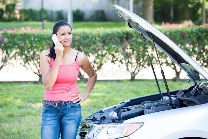 Problèmes de voiture photo stock