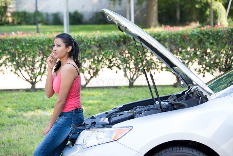 Problèmes de voiture images stock