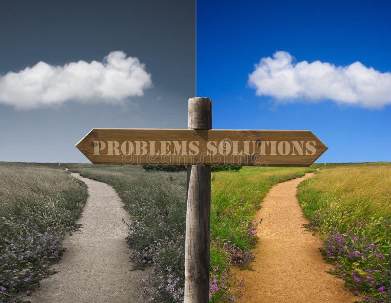 Problèmes et solutions image libre de droits