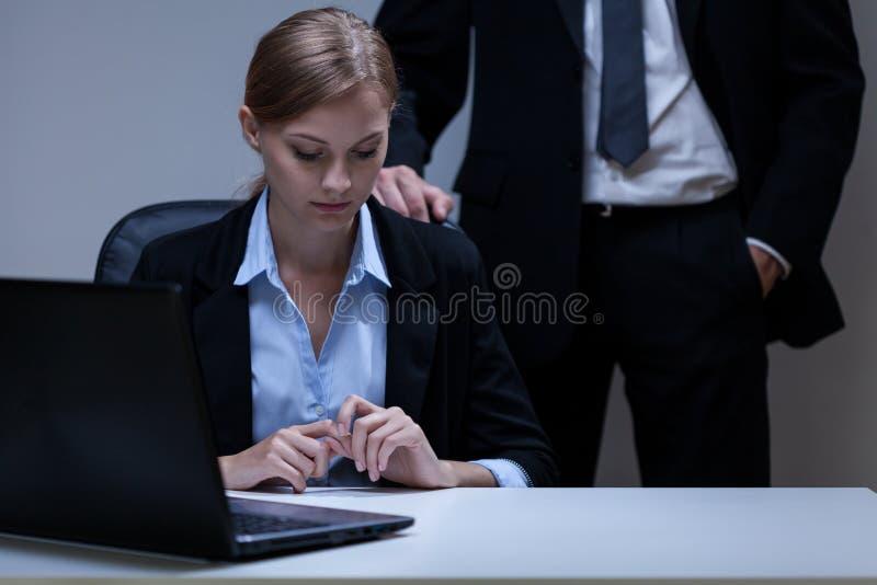 Probleem met werkgever royalty-vrije stock fotografie
