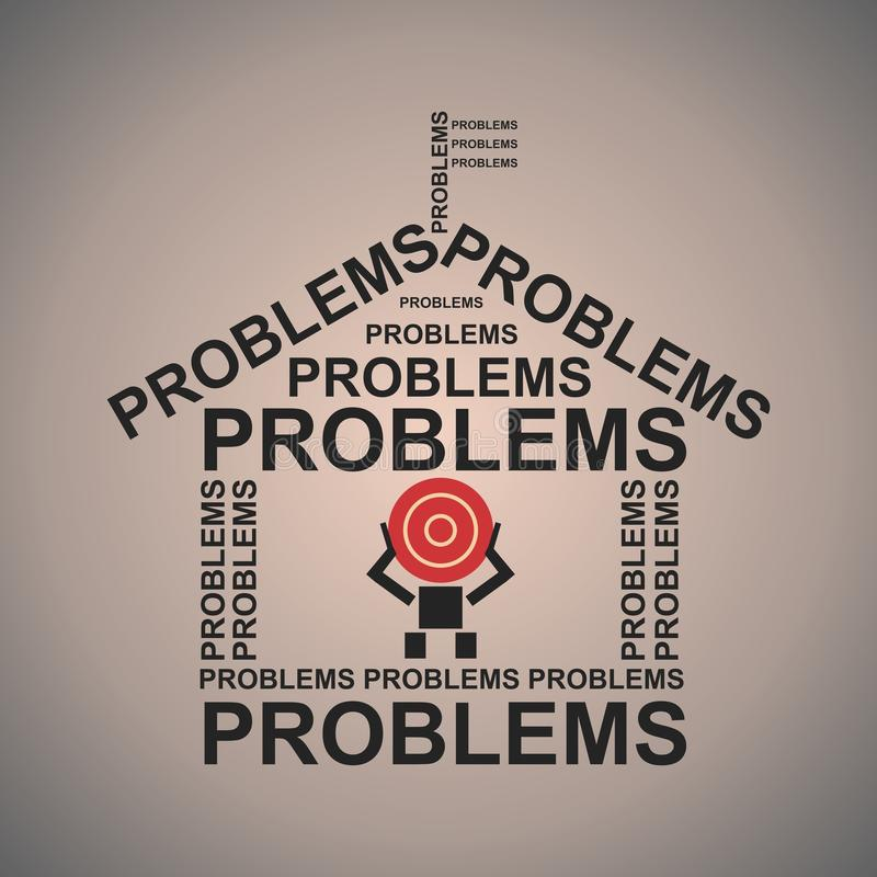 problem royaltyfri illustrationer