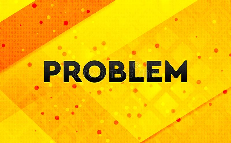 Problem abstract digital banner yellow background vector illustration