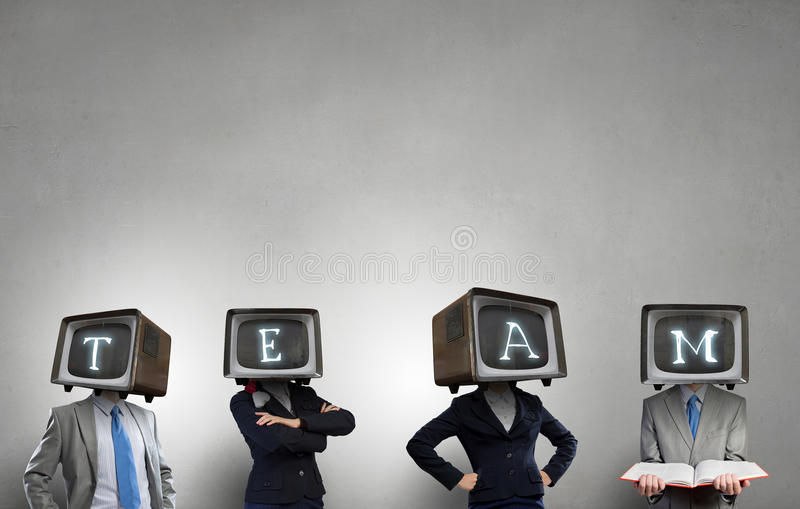 Problem av televisionböjelse Blandat massmedia arkivfoto