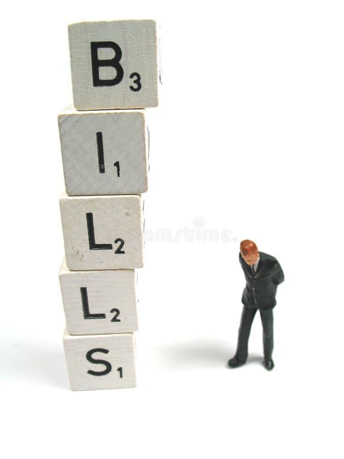 Problem with bills stock photos