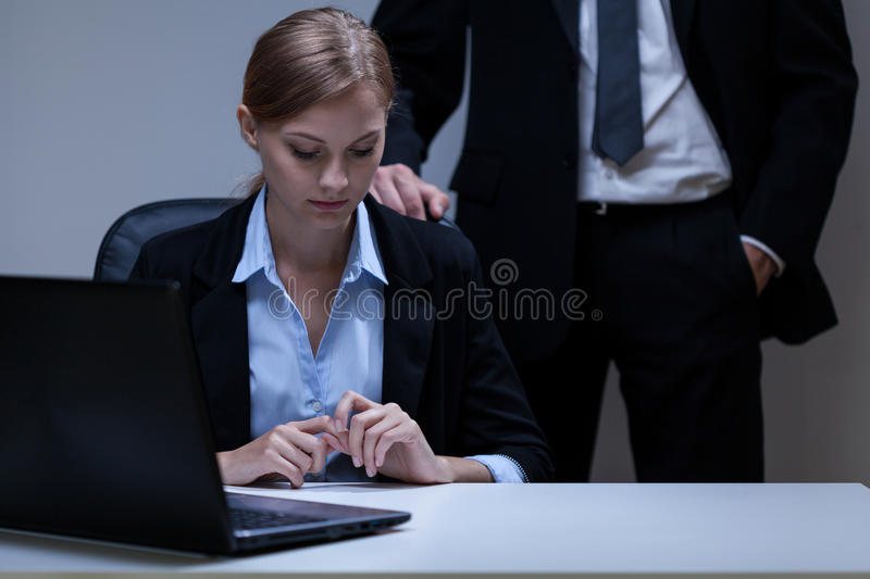Problem with boss royalty free stock photography