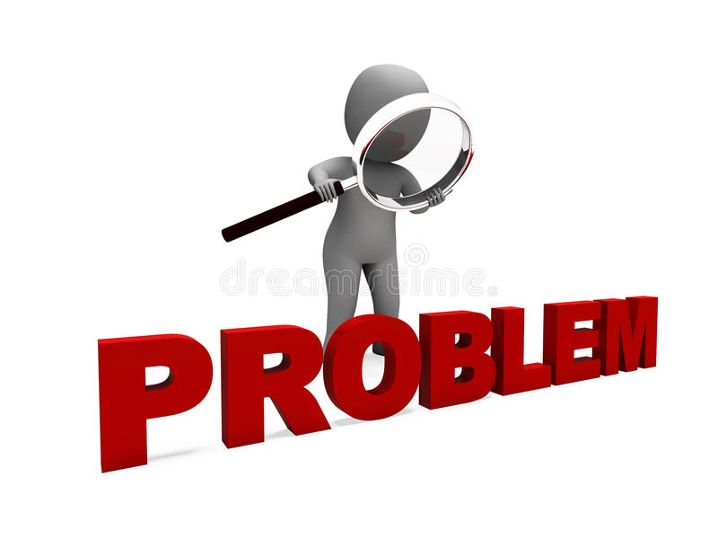 Problem Character Means Difficulty Dispute. Problem Character Meaning Difficulty Dispute Or Trouble vector illustration