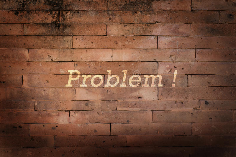 Problem concept. Problem seem like wall to across stock photo