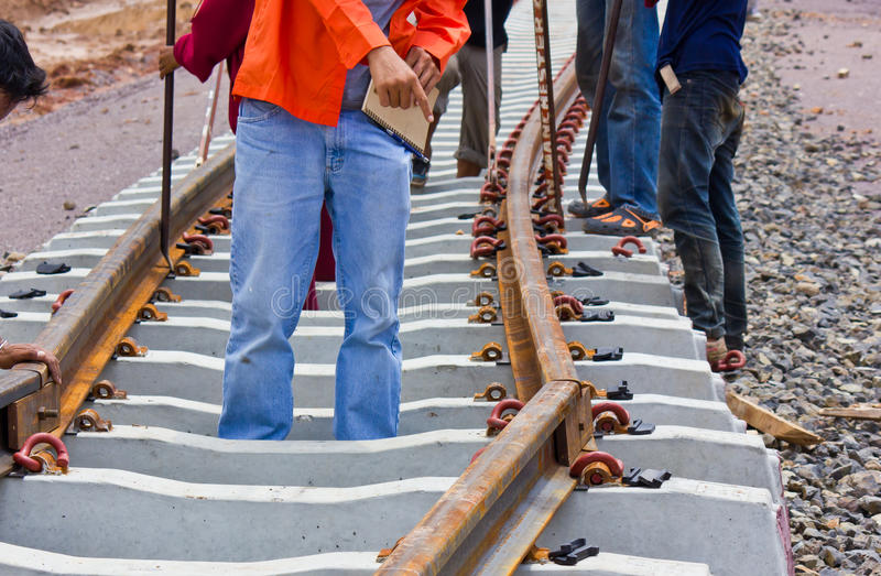 Download Problem Construction Of The Railway. Stock Image - Image: 32153257