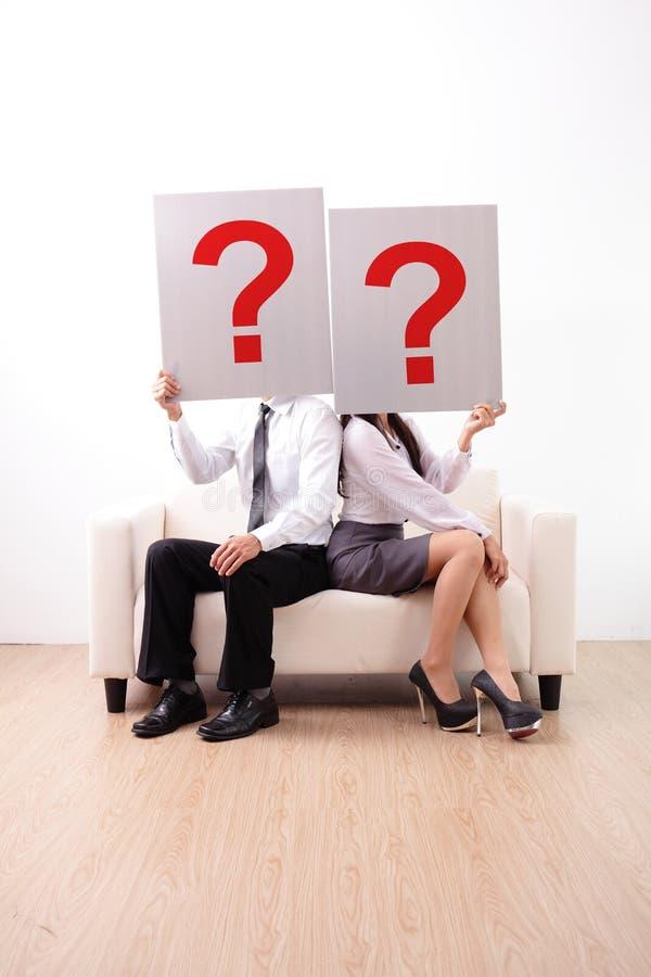 Problem in den jungen Paaren lizenzfreie stockfotos