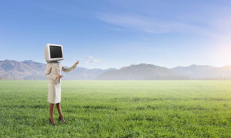 Problem der Fernsehsuchts Gemischte Medien lizenzfreie stockfotos