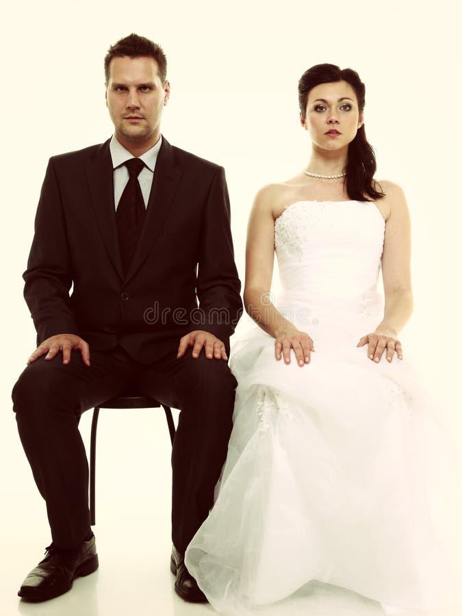 Problem des verheirateten Paars, Gleichgültigkeitskrisenzwietracht lizenzfreies stockbild
