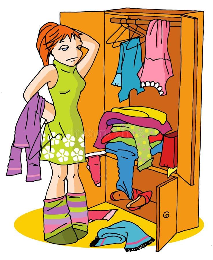 problem för 01 klänning vektor illustrationer