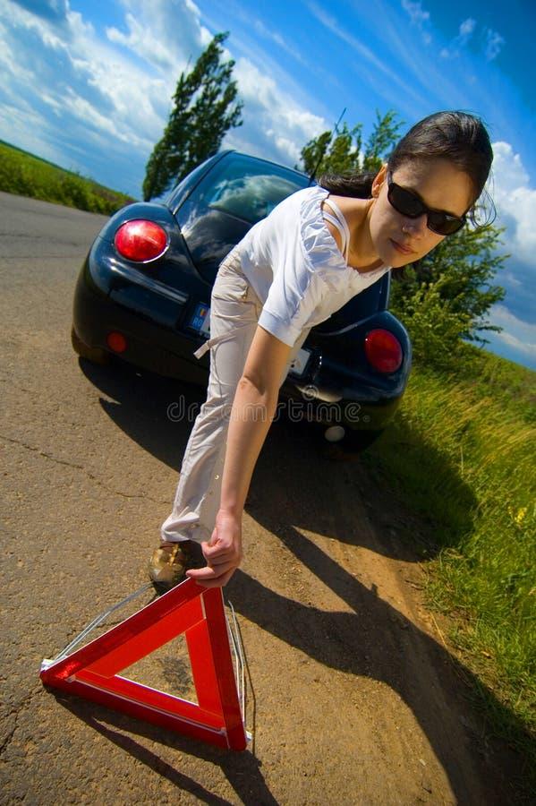 problem för 2 bil royaltyfri bild