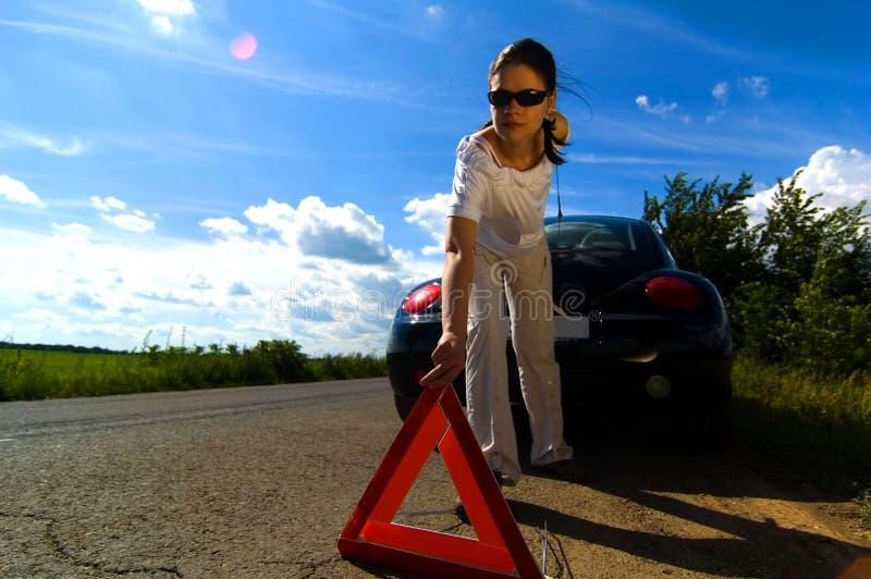 problem för 3 bil fotografering för bildbyråer