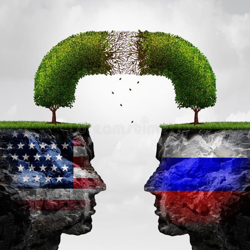 Problem för Ryssland Förenta staternaförbindelse royaltyfri illustrationer