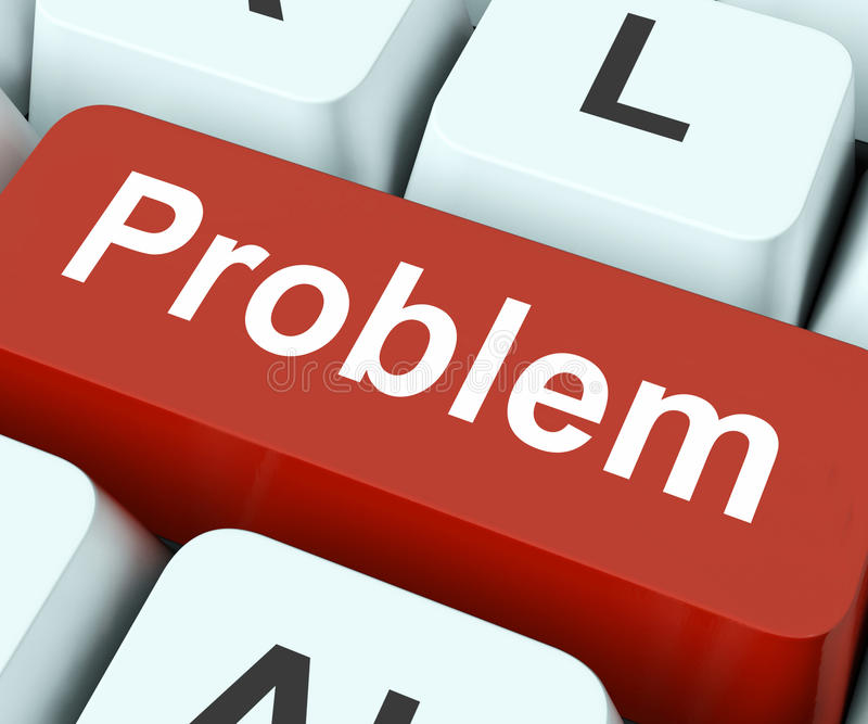Problem Key Means Difficulty Or Trouble. Problem Key On Keyboard Meaning Difficulty Dilemma Or Trouble vector illustration