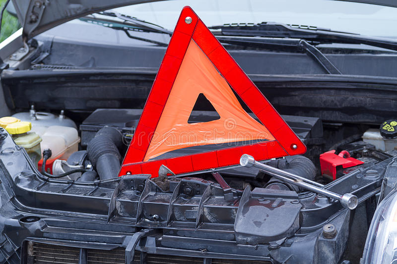 Download Problem With The Motor, Stopping On The Road Royalty Free Stock Photos - Image: 25453108