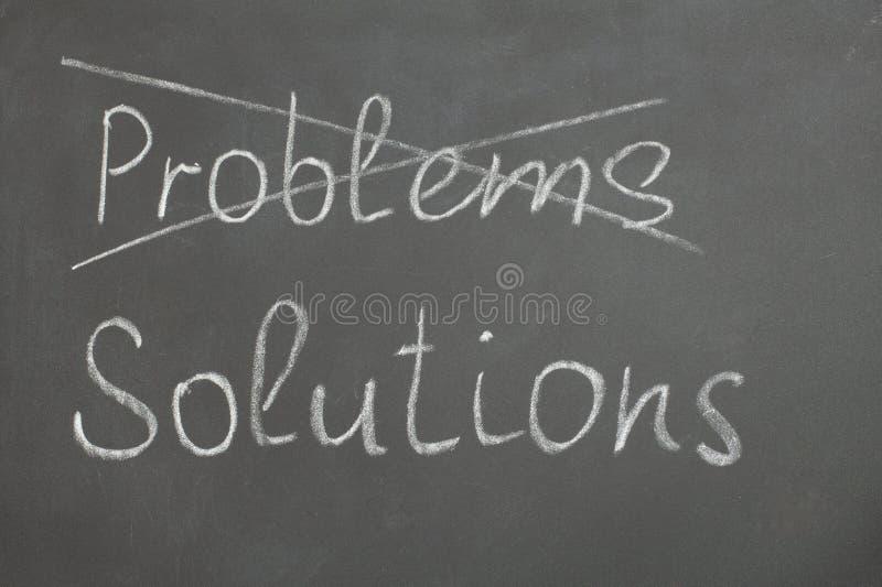 Problem och lösningar arkivbilder
