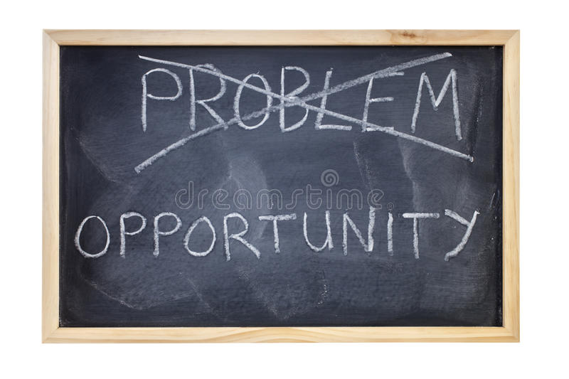 Download Problem Is Opportunity Blackboard Concept Stock Photos - Image: 25485763