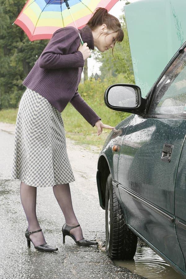 problem samochodu obrazy stock