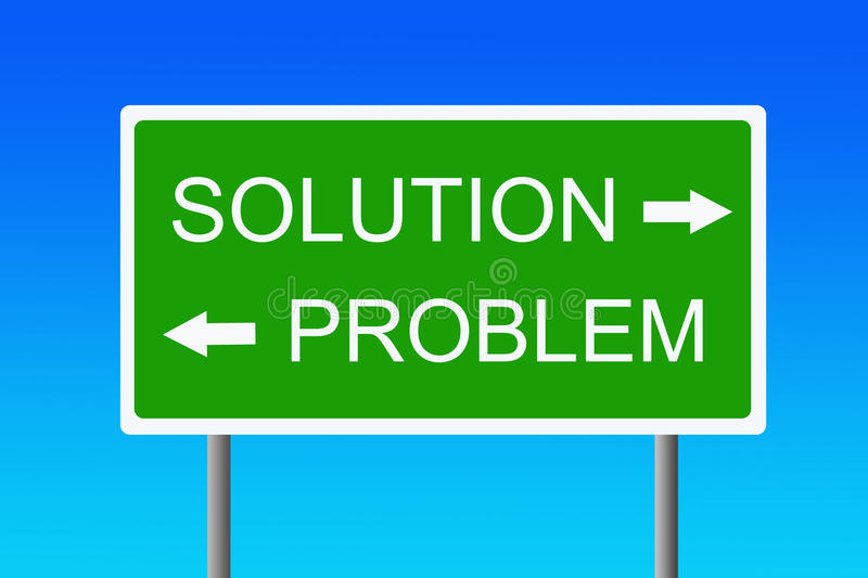 Problem and solution royalty free illustration