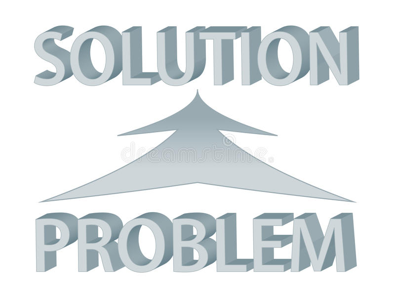 Problem and solution stock illustration