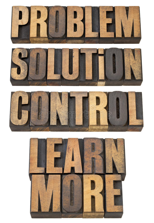 Problem, solution, control in wood type