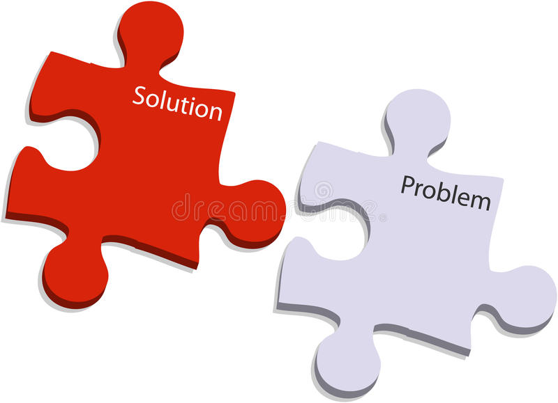 Problem And Solution Puzzle Royalty Free Stock Image