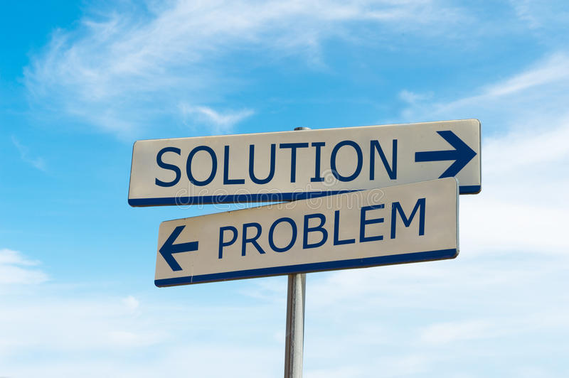 Problem and solution way royalty free stock photo