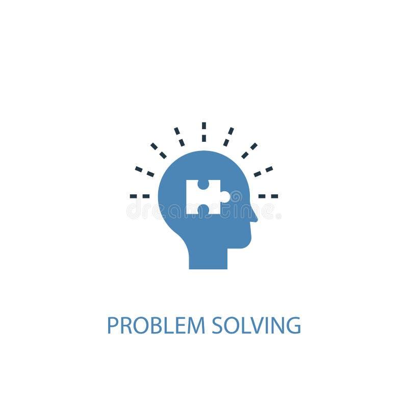 Problem solving concept 2 colored icon. Simple blue element illustration. problem solving concept stock illustration