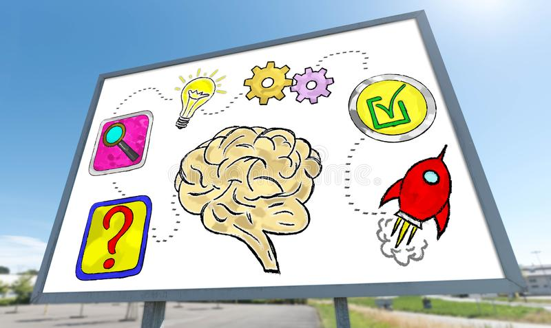 Problem solving concept on a billboard stock image