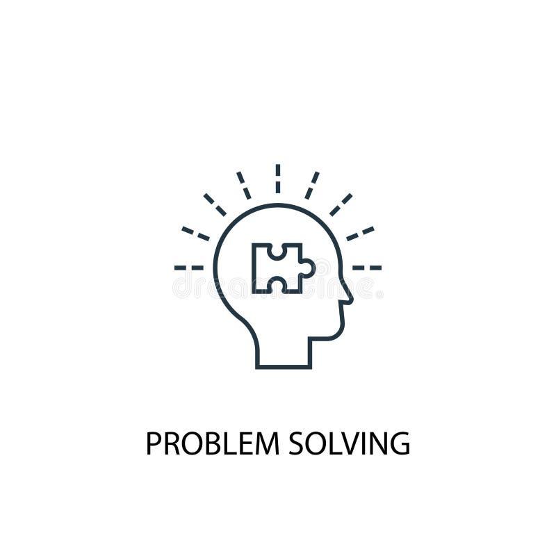 Problem solving concept line icon. Simple element illustration. problem solving concept outline royalty free illustration