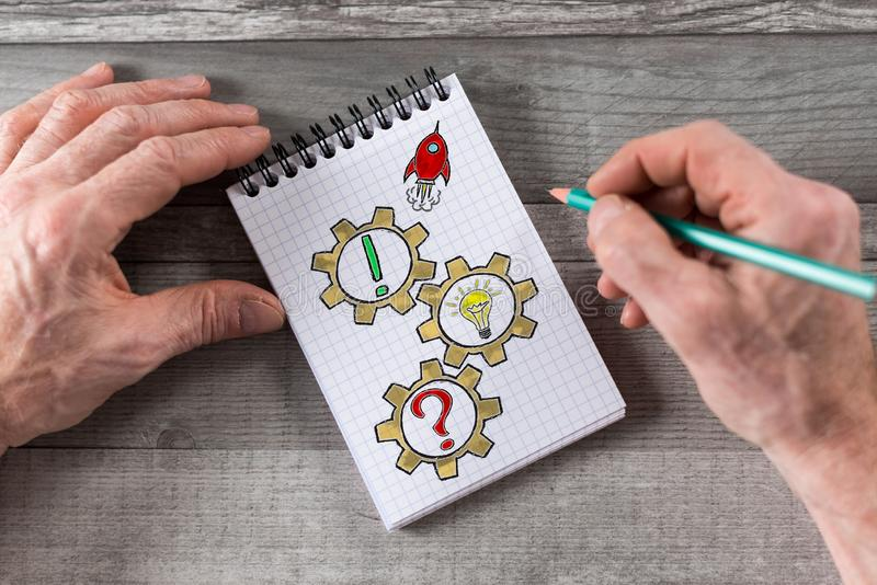 Problem solving concept on a notepad royalty free stock photos