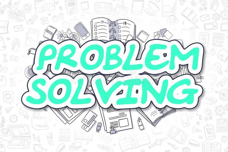 Problem Solving - Doodle Green Text. Business Concept. Problem Solving - Hand Drawn Business Illustration with Business Doodles. Green Word - Problem Solving vector illustration