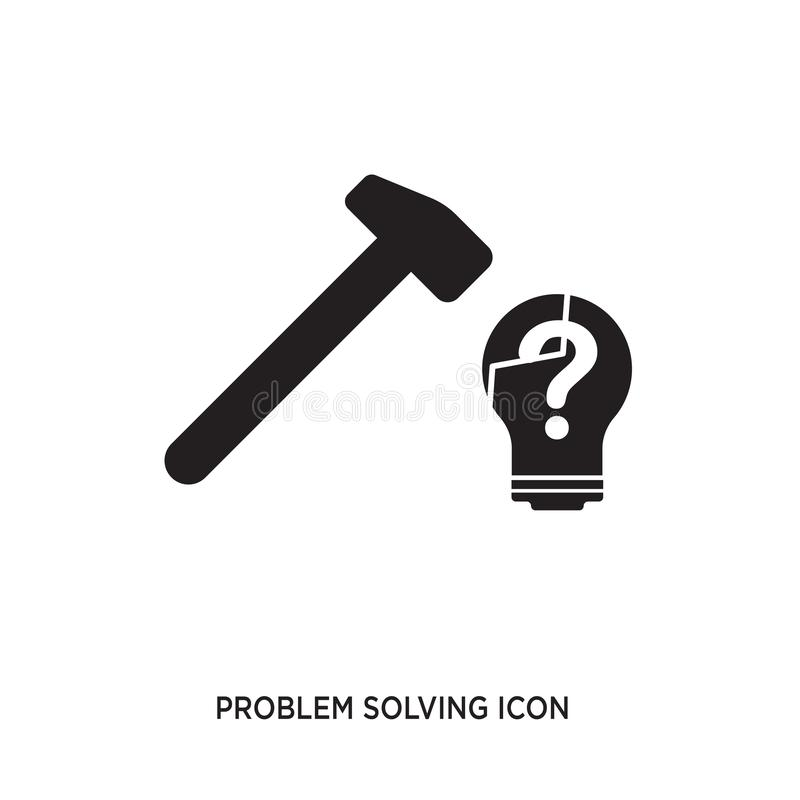 Problem solving icon. Isolated on white background,flat vector illustration can be used for web, mobile and print vector illustration