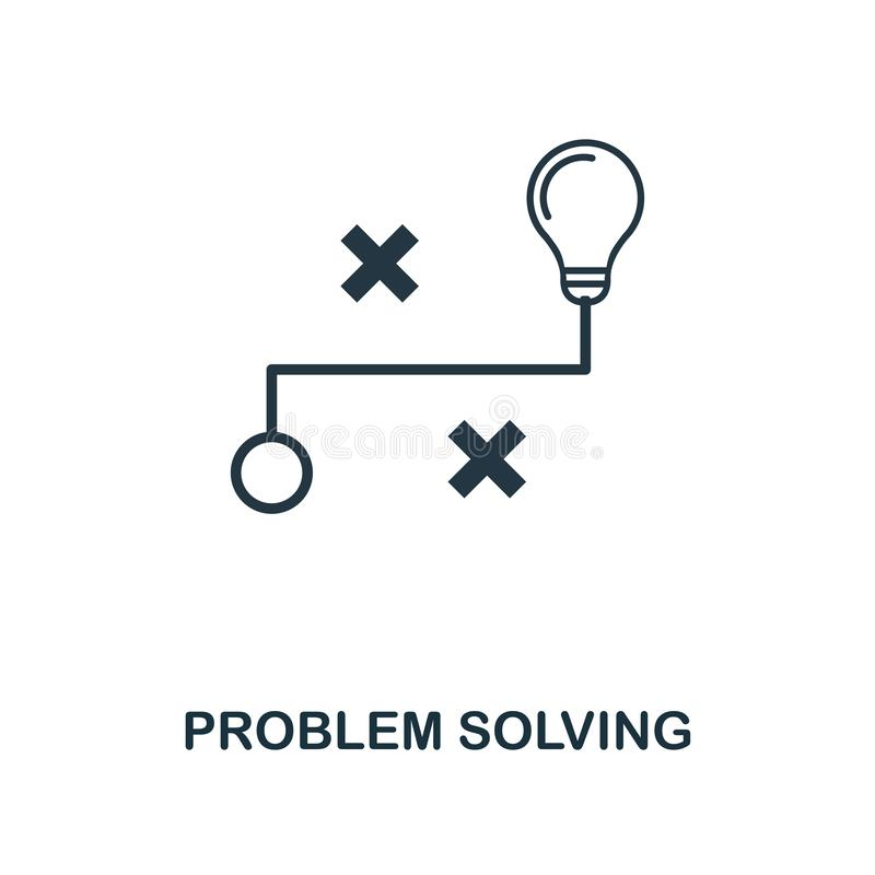 Problem Solving icon. Monochrome style design from machine learning icon collection. UI and UX. Pixel perfect problem solving icon. Problem Solving icon royalty free illustration