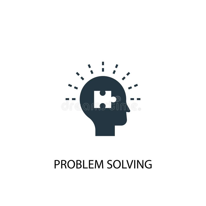 Problem solving icon. Simple element. Illustration. problem solving concept symbol design. Can be royalty free illustration