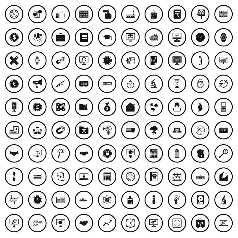100 problem solving icons set, simple style. 100 problem solving icons set in simple style for any design vector illustration vector illustration