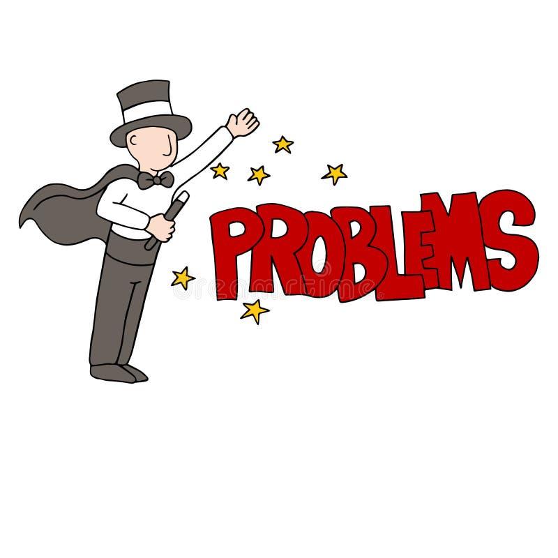 Problem Solving Magician. An image of a problem solving magician stock illustration