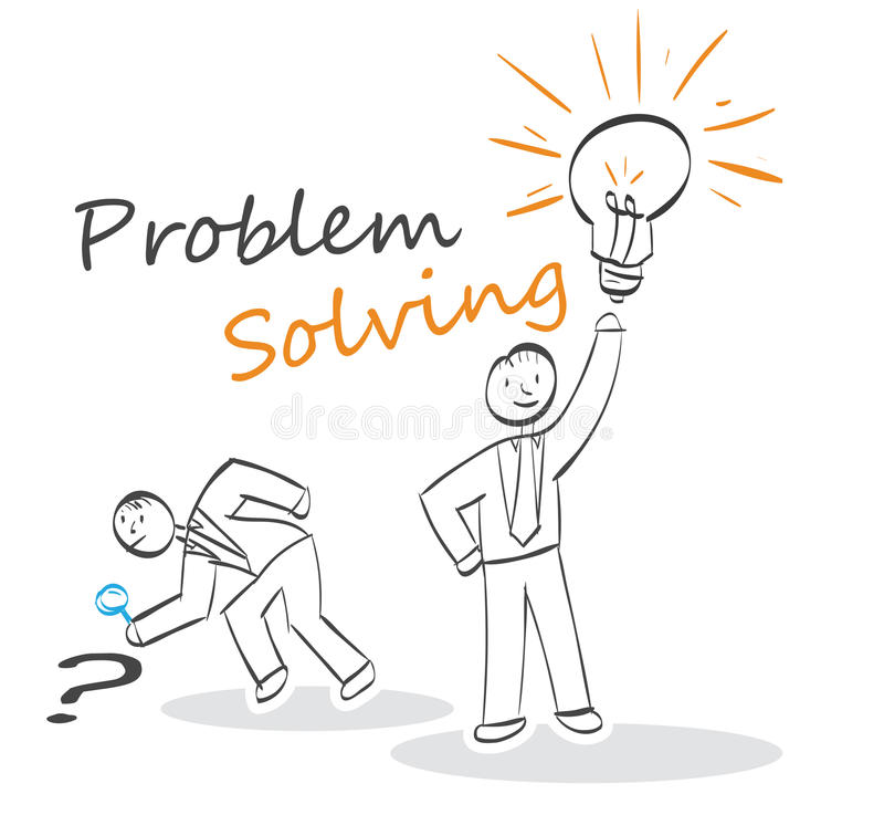 Problem Solving. Stick people concept royalty free illustration